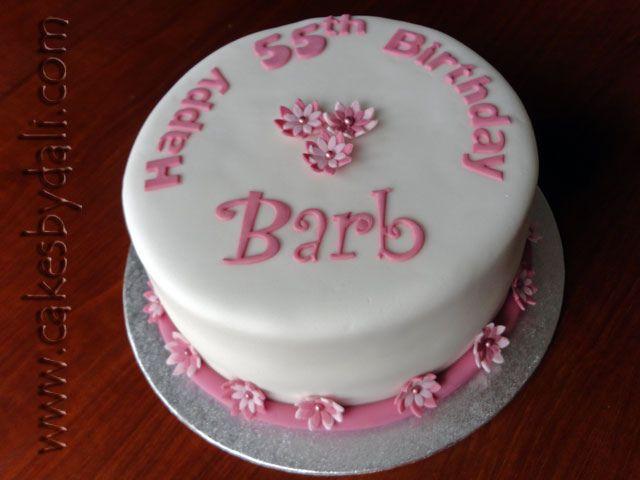 55th Birthday Cake Birthday Cakes Birthdays And Cake