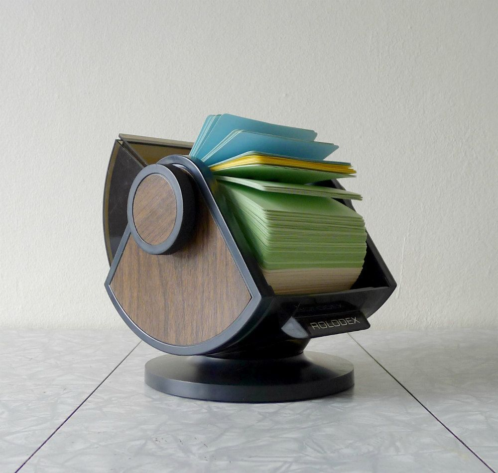 Vintage Office Decor, Rolodex Organizer
