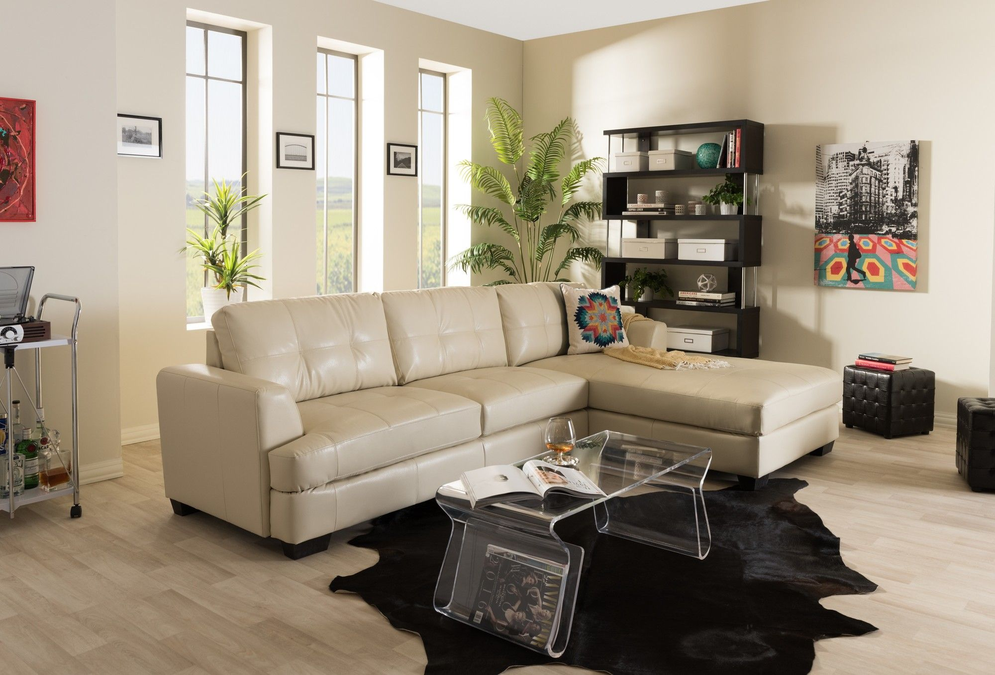 Strange Dobson Black Leather Modern Sectional Sofa 36 Best Regular Beatyapartments Chair Design Images Beatyapartmentscom