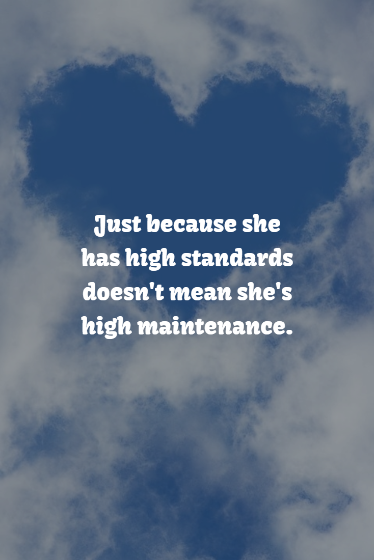 What does high standards mean