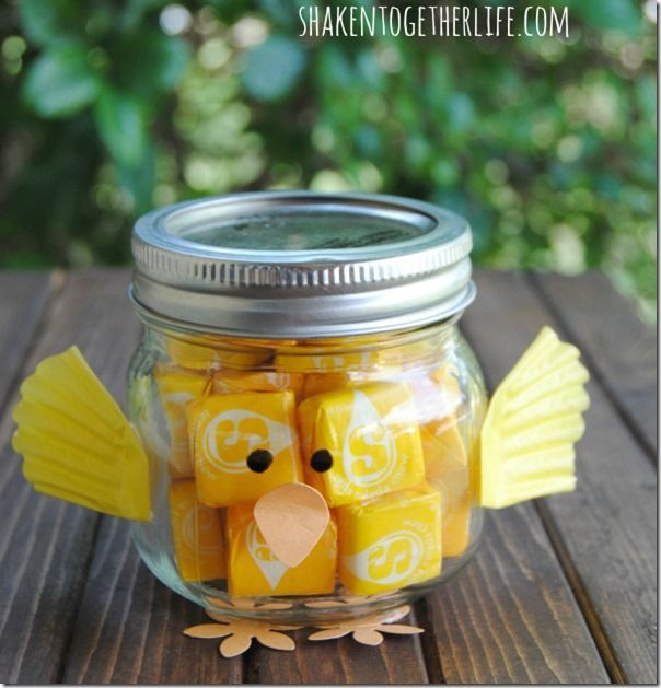Eco proyectos madreselva tienda ecolgica pascoa pinterest mason jar easter chick gift filled with starburst teacher easter gift idea negle Image collections