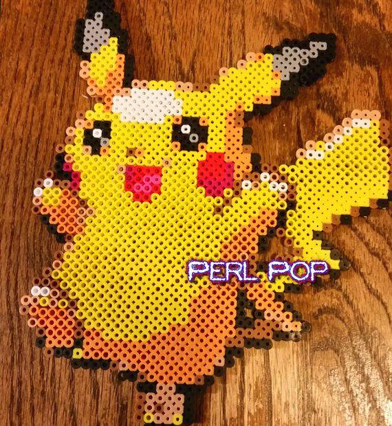 Perler Pikachu Pokemon, Charizard, Bulbasaur, Pikachu