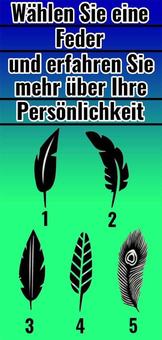 Wählen Sie eine Feder und erfahren Sie mehr über Ihre Persönlichkeit