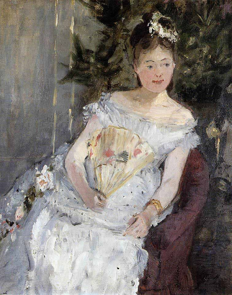 Portrait of Marguerite Carre (Young Girl in a Ball Gown). 1873.Berthe Morisot.