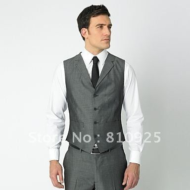 groom-vests-gray-wedding-dinner-suit-for-men-five-button-free ...