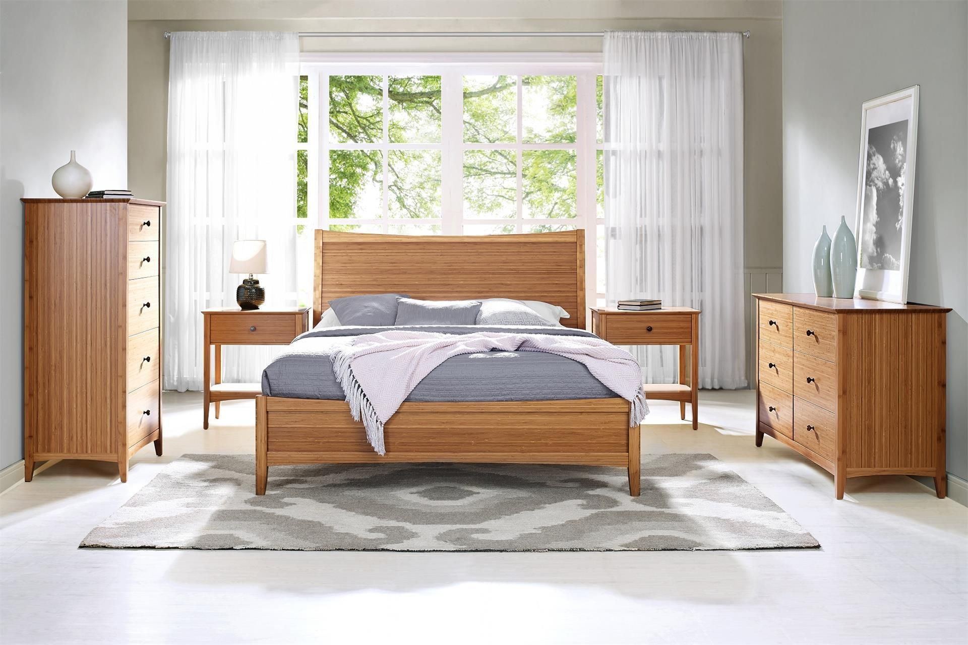Greenington Willow 5 Piece Bamboo Bedroom Set Bedroom Set