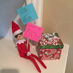 Christmas Gender Reveal Ideas.Christmas Gender Reveal Elf On The Shelf Yup I Did It