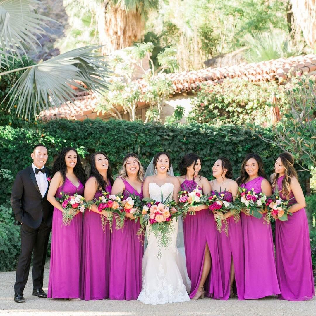 Raspberry Purple Bridesmaid Dresses From David S Bridal Photo By Lovisa Davids Bridal Bridesmaid Dresses Bridal Bridesmaid Dresses Begonia Bridesmaid Dresses