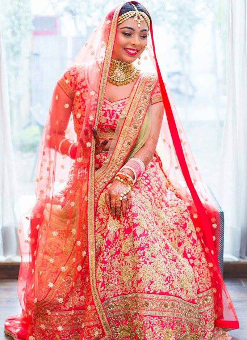 Magenta Bridal Lehenga Choli Set with Sequin Work | ℓєнєηgαѕ | Pinterest