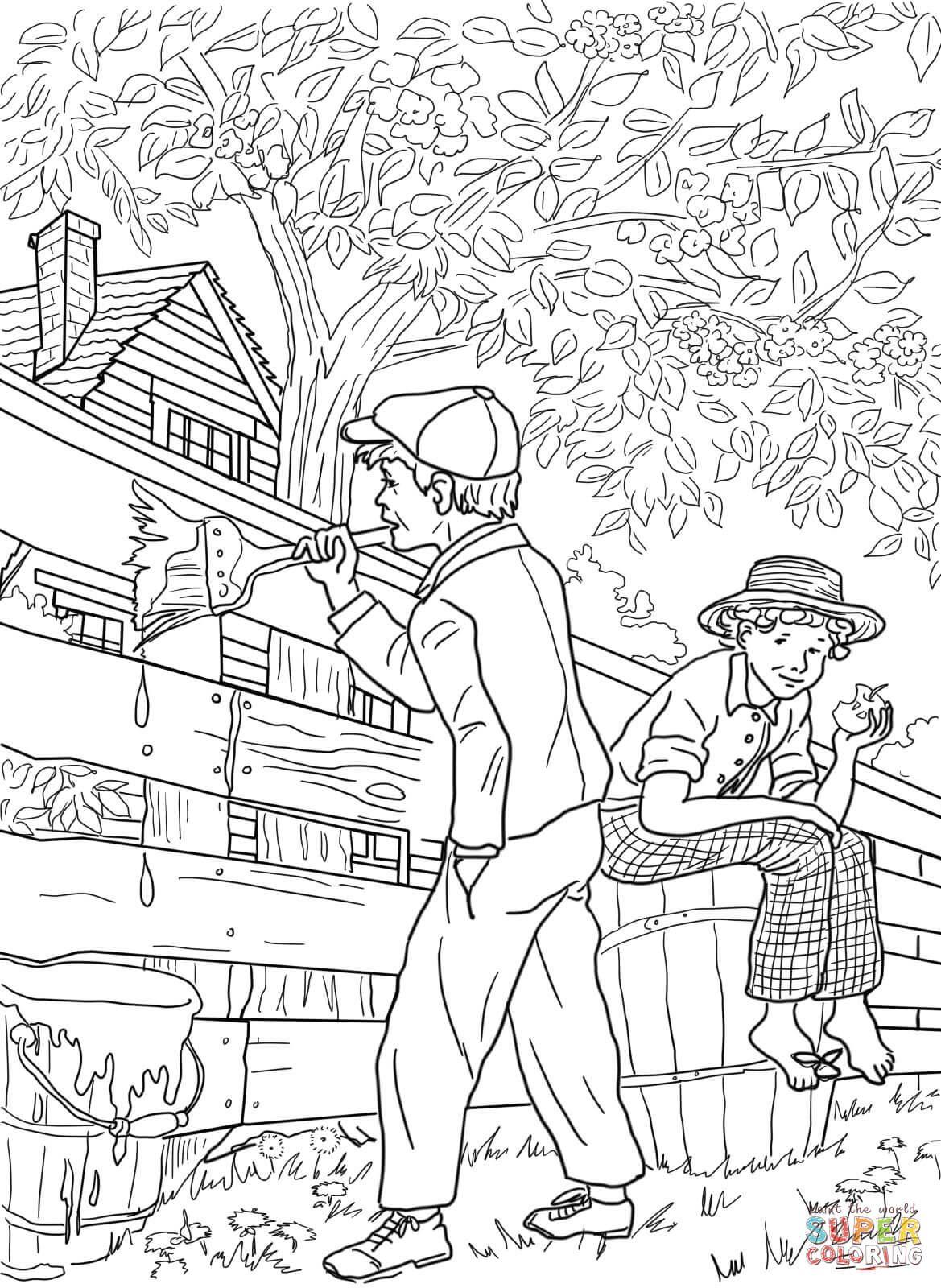 Tom Sawyer And Whitewashing The Fence