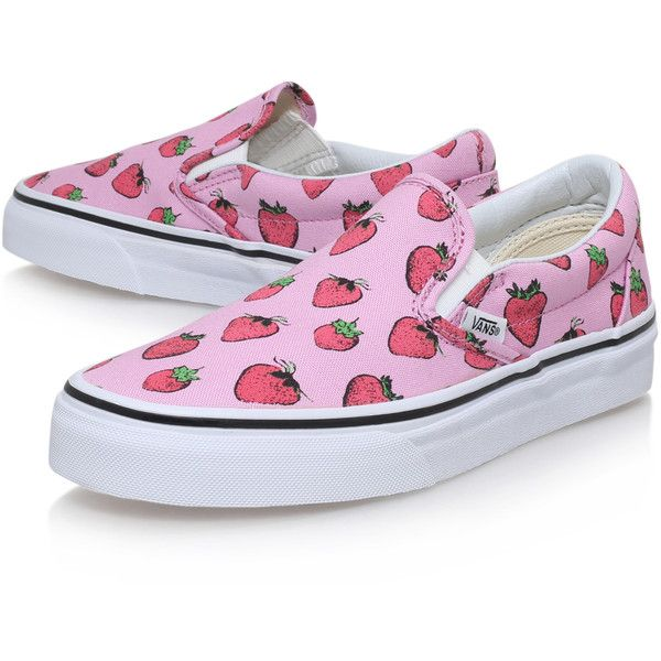 69c039dd03c Slip On Strawberry Vans Pink ( 78) ❤ liked on Polyvore featuring shoes