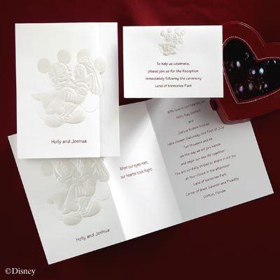 Mickey and Minnie wedding invitations! | Wedding ideas! | Pinterest ...