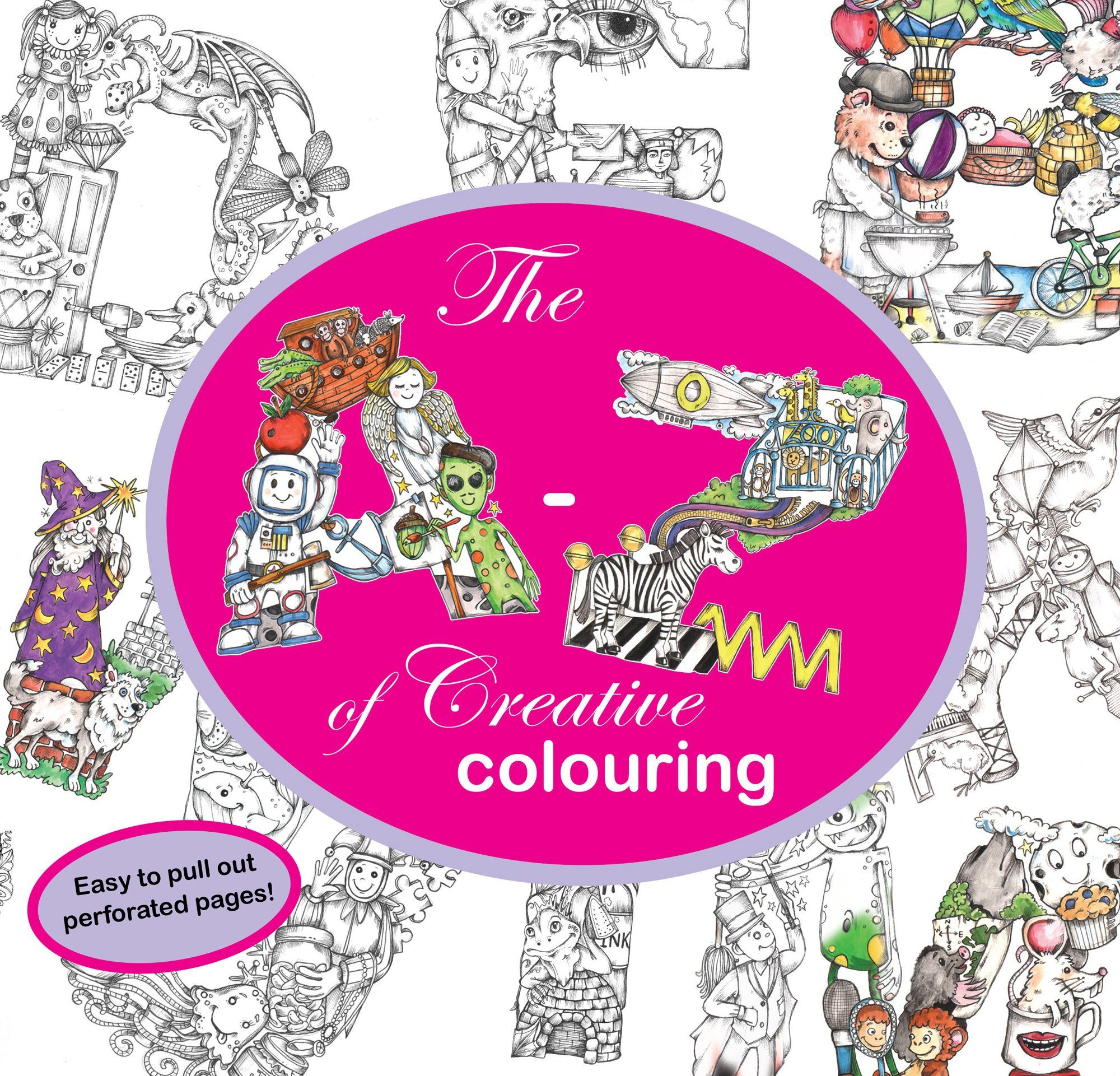 The A-Z of Creative Colouring - Colouring Book: Amazon.co.uk | Make ...