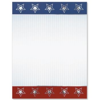 Patriotic Facade Specialty Border Papers - certificate border word