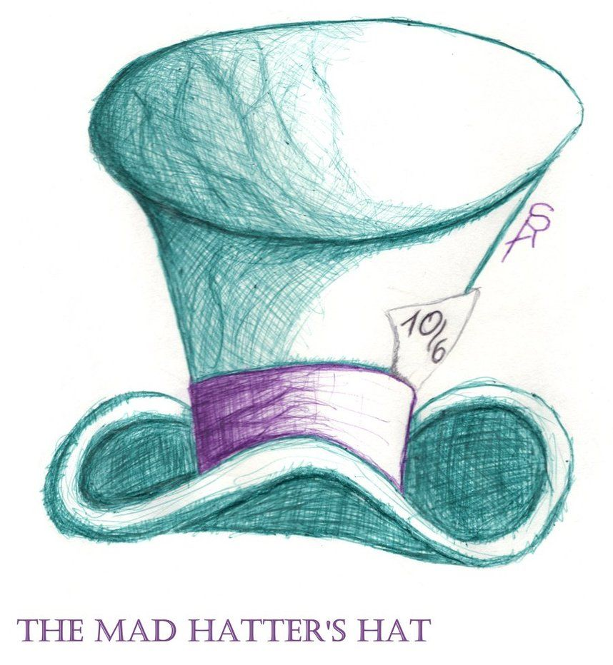 Mad Hatter S Top Hat Coloring Pages Mad Hatter S Hat By Serafine