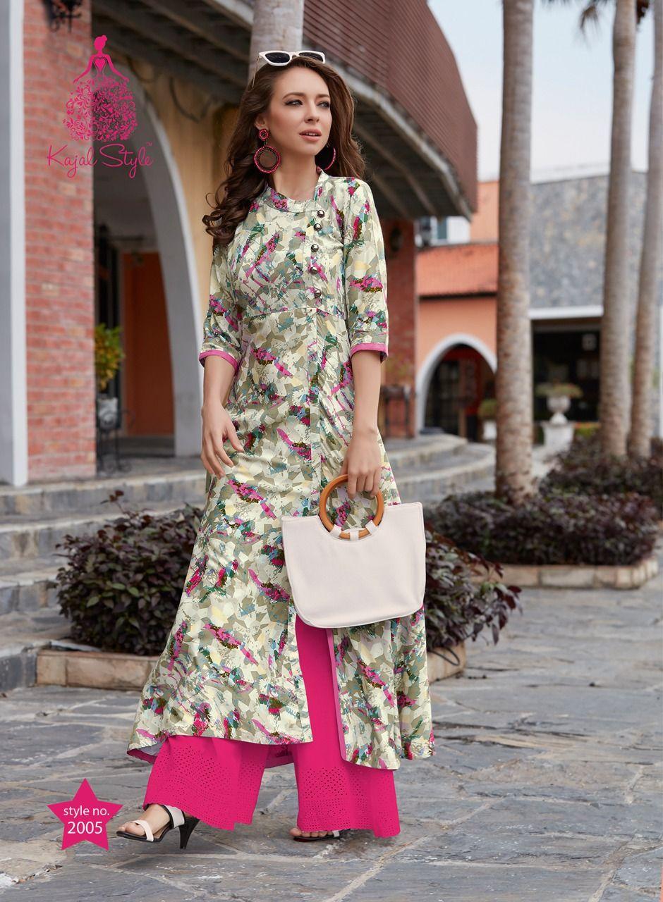 25d00829e8 Kajal Style Fashion Studio Vol 2 Kurti Catalog 16 Pcs Wholesale Buy Kajal  Style Fashion Studio