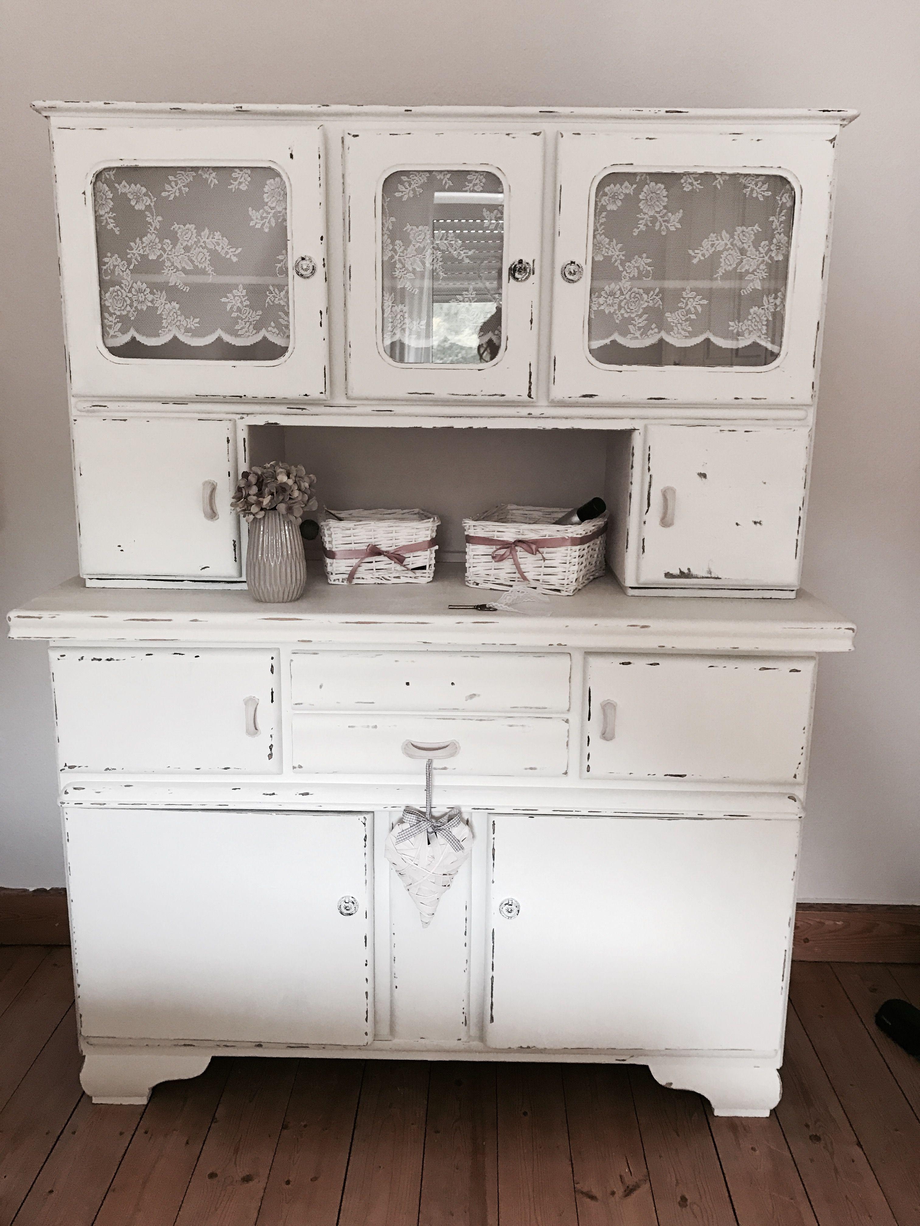 Omis alter Küchenschrank Vintage ♡ Kreidefarbe ♡ Annie Sloan Chalk ...