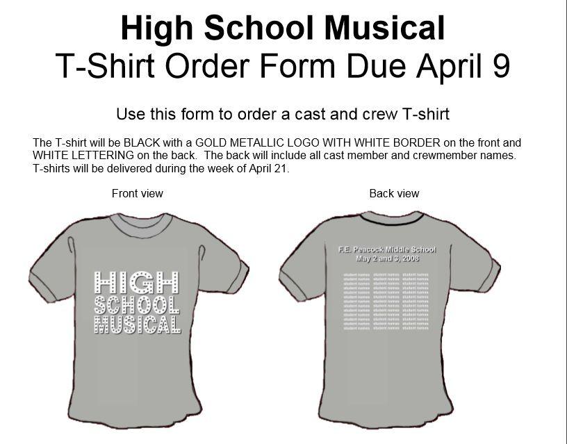 T-Shirt Order Form Template http://exceltmp.com/t-shirt-order-form ...