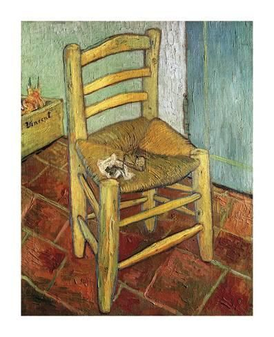 THE CHAIR AND PIPE 1888 ARLES IMPRESSIONIST PAINTING BY