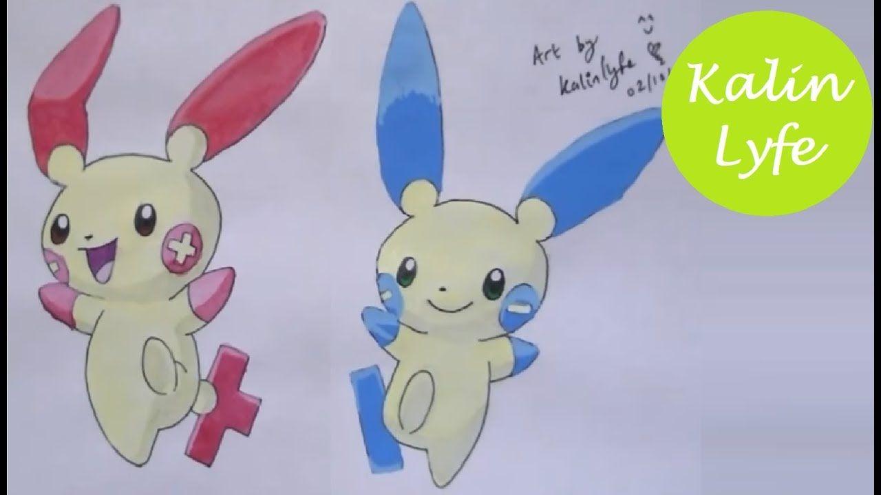 Pokemon Posipi Negapi Plusle Minun Drawing Ep50 Pokemon