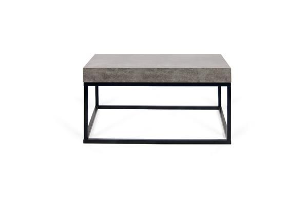 A Simple Cocktail Or End Table In A Melamine Cement Finish Faux Concrete Melamine Finish Ta Coffee Table Contemporary Modern Furniture Extendable Dining Table