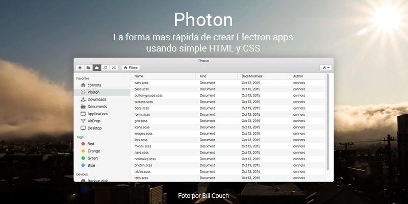 Photon Crea apps de escritorio con Electron, HTML Y CSS