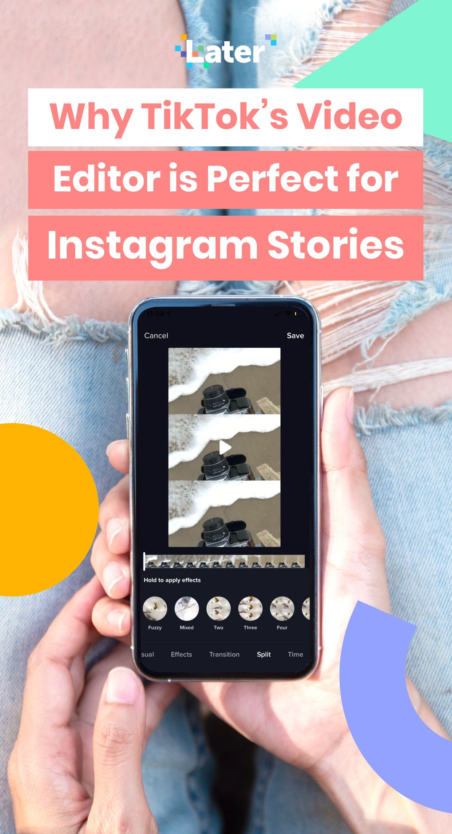 Why Tiktok S Video Editor Is Perfect For Instagram Stories Later Blog Instagram Story Video Editor Instagram Apps