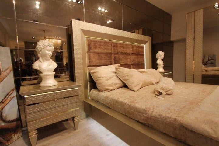 dior grup exclusief luxe hoogglans goud slaapkamer meubel