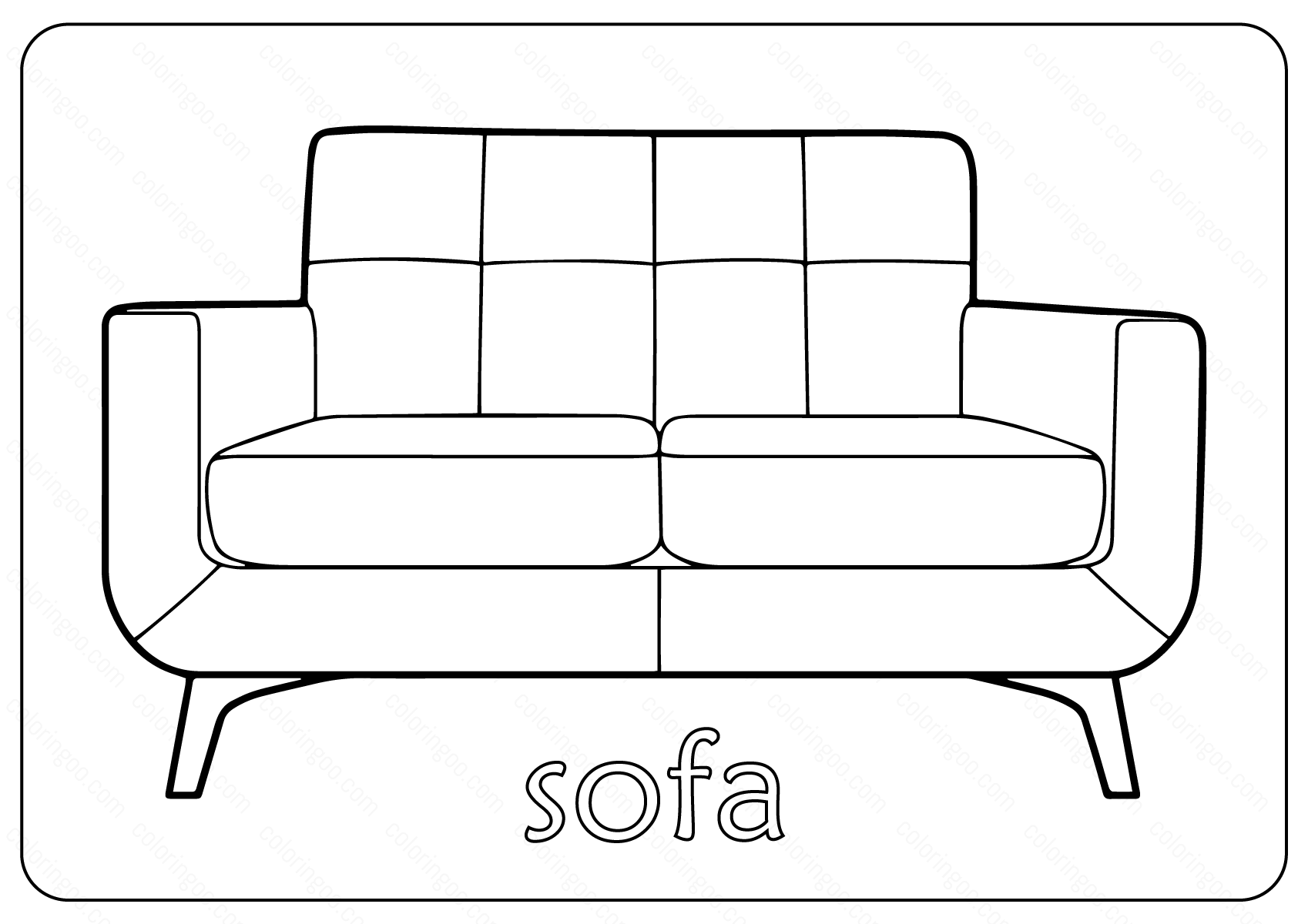Free Printable Sofa Couch Coloring Pages Coloring Pages Sofa Couch Color