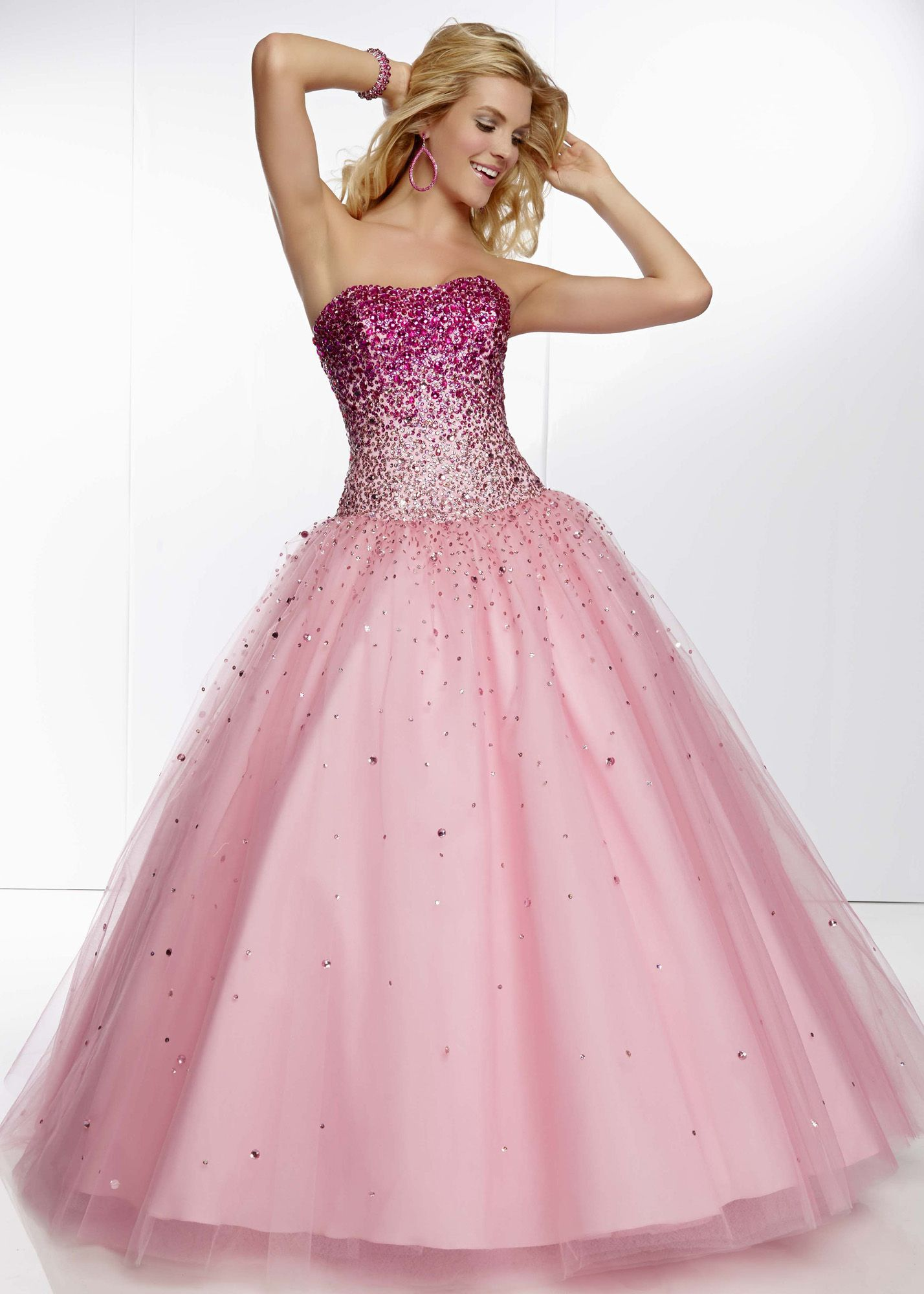 Mori Lee 95068 - Bubble Strapless Beaded Prom Dresses Online ...