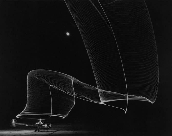 LIFE.com celebrates readily identifiable, albeit unusual flying objects from blimps; early helicopters; jet packs; and other devices. See more: http://ti.me/1yY2ihv  (Andreas Feininger—The LIFE Picture Collection/Getty Images)
