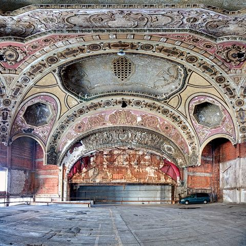 Eric Holubow Urban Exploration Photographer Michigan Theater Parking Urban Decay Photography Abandoned Detroit Abandoned Places