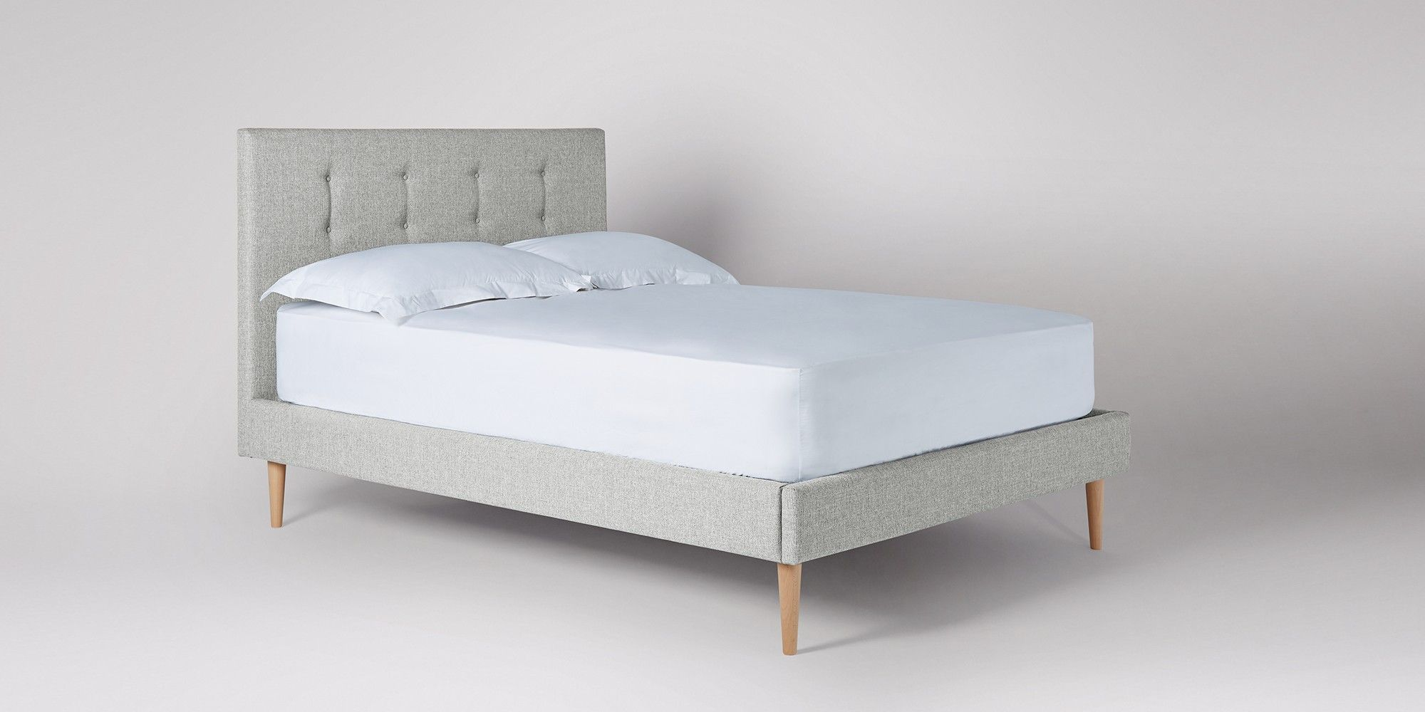 Swoon Editions Frame bed, midcentury style Upholstered
