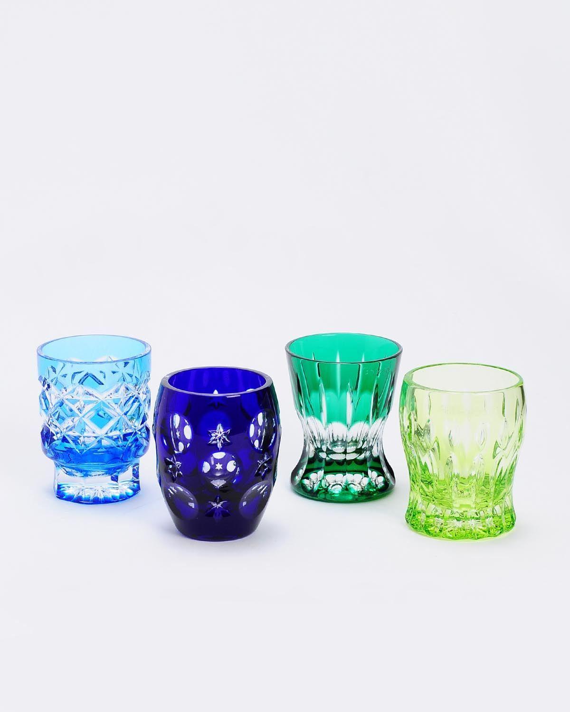 Faberge LU Faberge Crystal Signed Shot Glasses