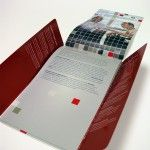 Unique brochure. Fold outs on 3 sides.  Matte & Gloss coatings.
