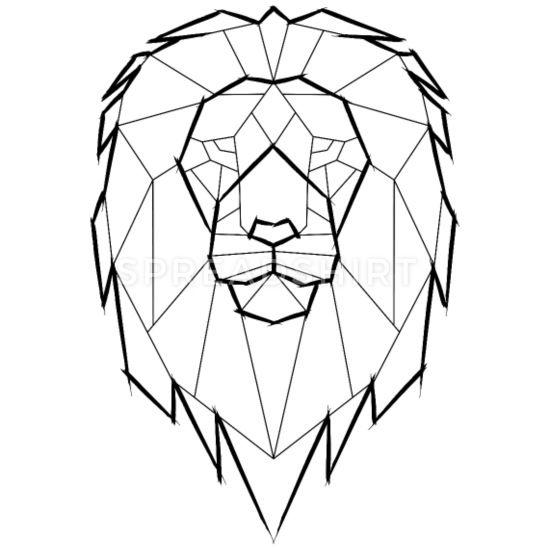 'Löwe Geometrisch Geometrie - schwarz' Frauen T-Shirt   Spreadshirt
