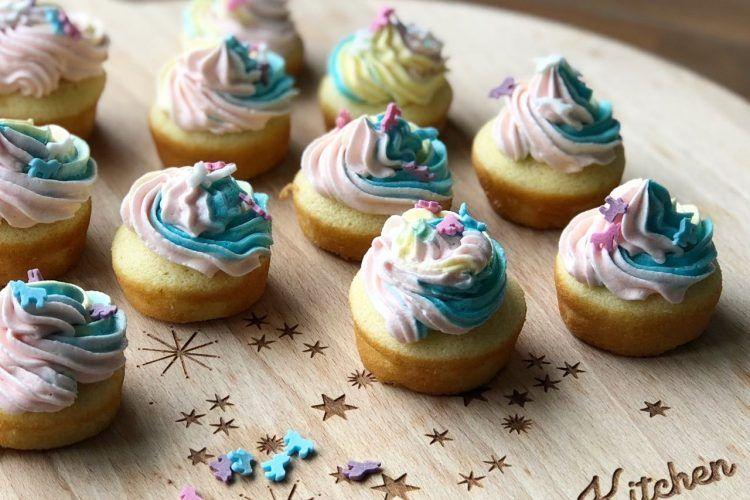 Unicorn Mini Cupcakes Dessert Cupcakesmuffins Mini Cupcakes