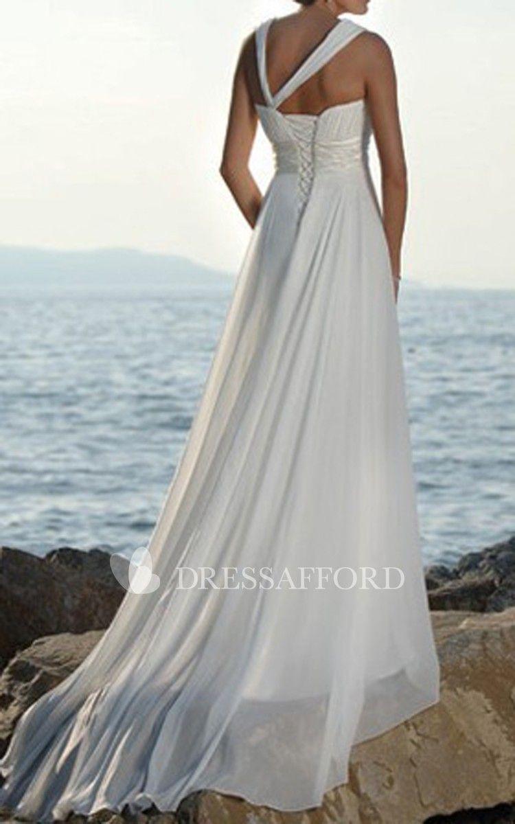 Strapped highwaist asymmetric casual chiffon sweetheart dress