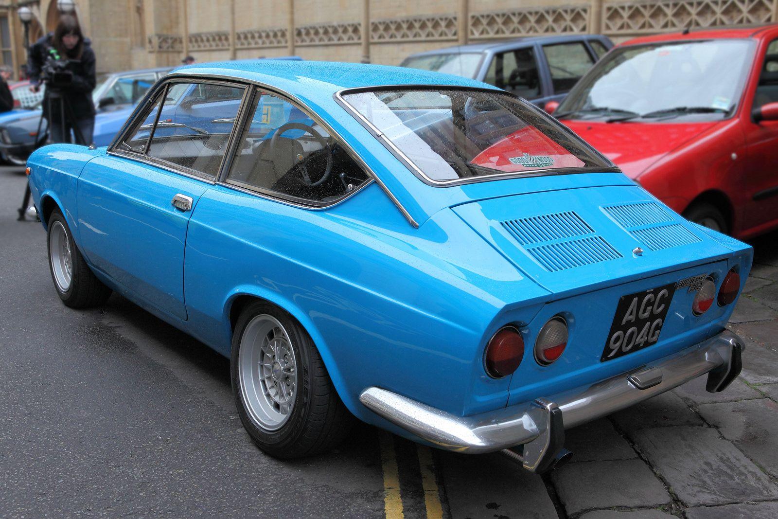 Fiat 850 Sport Coupe Rear Three Quarter View C1969 Fiat 850