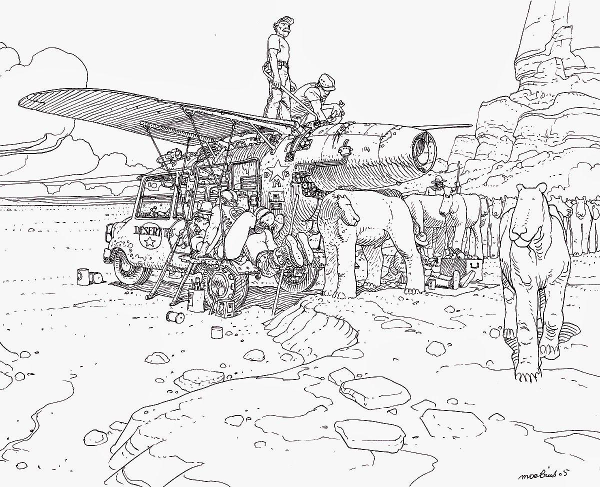 Dsert Jean Giraud Mbius Pinterest 2004 Kia Engine Valve Diagram