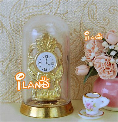 1: 12 / diy   #furniture accessories  miyazaki #golden #clock transparent cover,  View more on the LINK: 	http://www.zeppy.io/product/gb/2/222068159020/