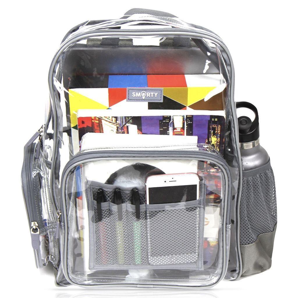 26b21b8b8c Heavy Duty Clear Backpack - Cool Gray (Medium) - THE SMARTY CO.