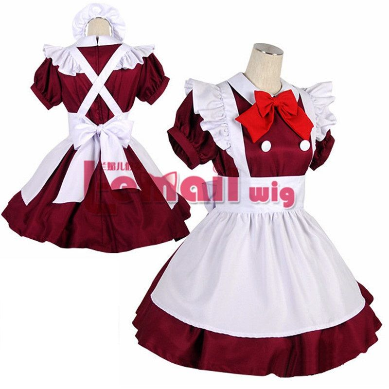 Japanese anime maid Cosplay sweet lolita dress for girls  044aa6235d5a