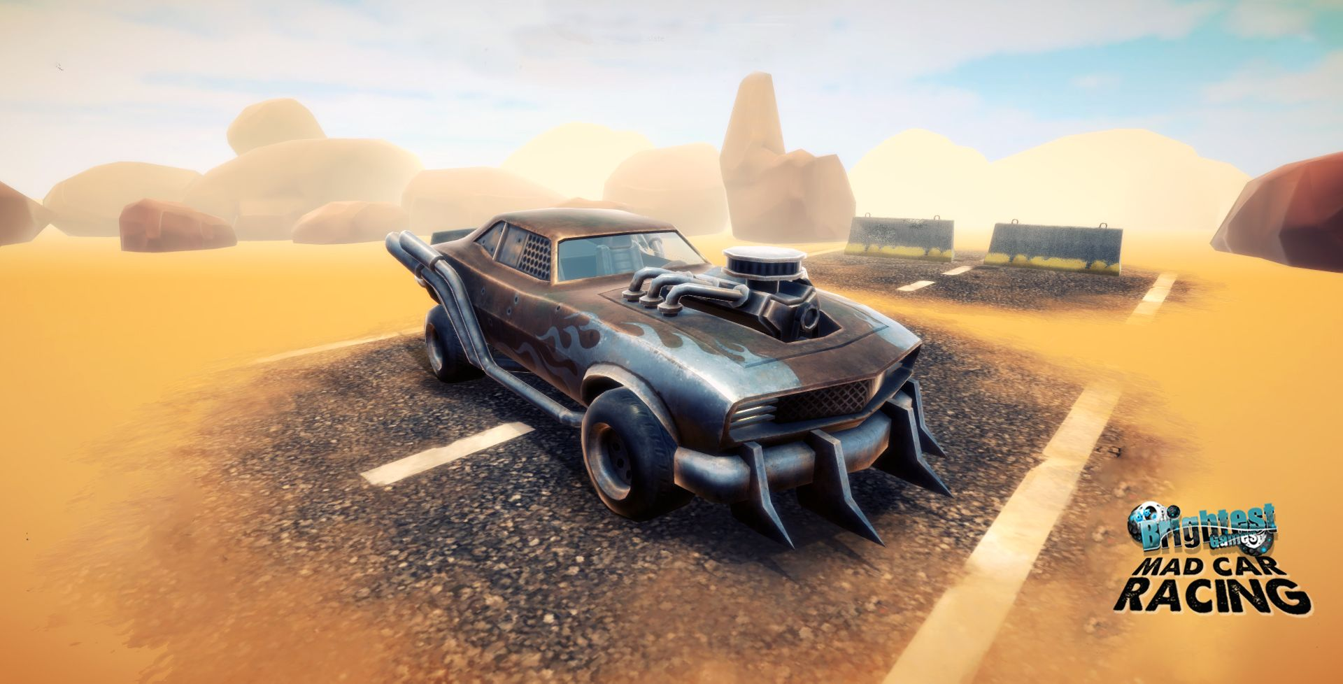 Enjoy driving apocalyptic 4x4 truck and muscle cars