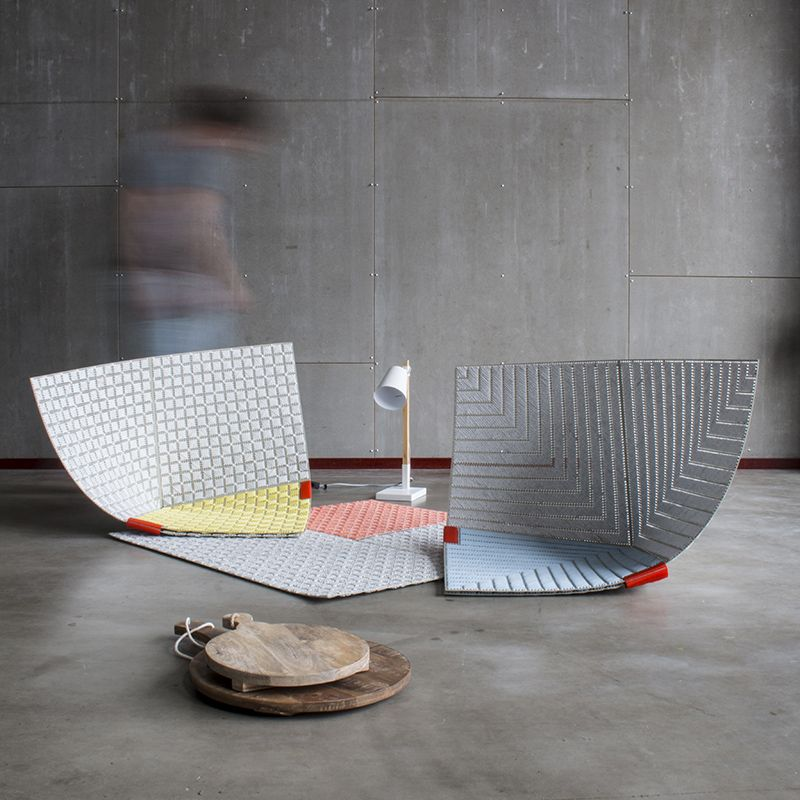 Seating In Seconds Fold These Fun Floor Tiles Into Chairs Micro