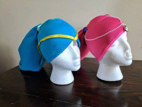 Shimmer and shine headpieces, hats, wigs https://www.etsy.com/listing/515621627/shimmer-and-shine-headpiecesshimmer-and