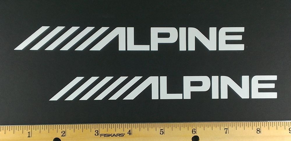 Two alpine audio vinyl decals stickers 12 colors