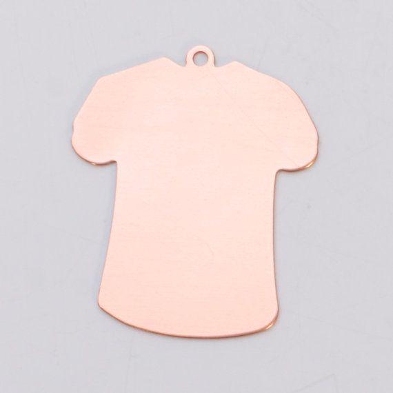 6 Large Copper T Shirt Design Metal Stamping Blanks 24 Gauge Msb0068 Metal Stamping Blanks Stamping Blanks Metal Stamping