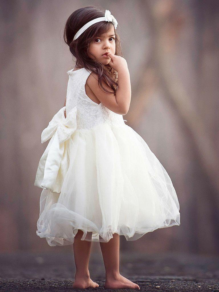 ivory flower girl dress rustic  Wedding Party   Pinterest