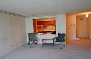 Matt's living room looking into kitchen.  Prerenovation
